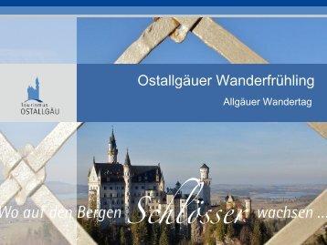 Ostallgäuer Wanderfrühling - Tourismus Ostallgäu