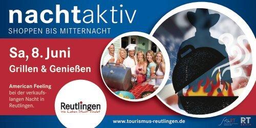 Flyer mit allen Veranstaltungsorten - Tourismus Reutlingen