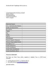 Fragebogen für Ferienwohnungen - Jockgrim Tourismus
