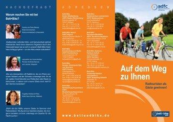 Info-Flyer bett+bike - Tourismusnetzwerk Rheinland-Pfalz