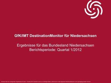DestinationMonitor 1. Quartal 2012 - Tourismuspartner Niedersachsen