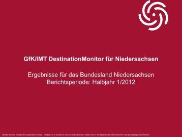 DestinationMonitor 1. Halbjahr 2012 - Tourismuspartner ...