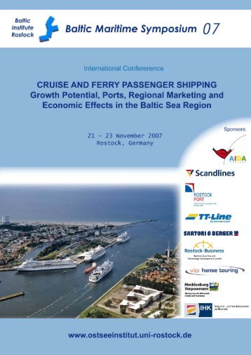 CRUISE AND FERRY PASSENGER SHIPPING Growth Potential ...