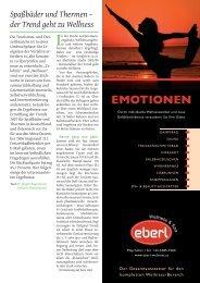 Spaßbäder und Thermen - der Trend geht zu Wellness als pdf ...