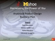 Harnessing the Power of You - Design Science