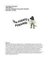 The Pirate's Pyramid APD 2005-10 Jing Guo, Stephanie Huang ...