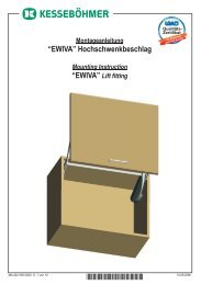 "Hochschwenkbeschlag ""EWIVA"" ""EWIVA"" *4020560000*"