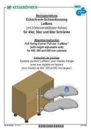 Eckschrank-Schwenkauszug LeMans (mit höhenverstellbarer Achse ...