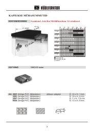 Kapiukse hinged ja mehhanismid - Mööblifurnituur AS kataloog