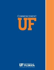 Commencement - Registrar - University of Florida