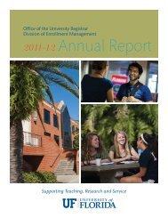 Annual Report - Registrar - University of Florida