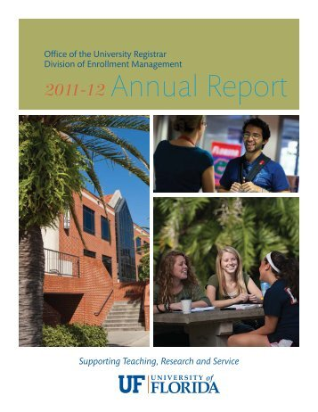 Annual Report - Registrar - University of Florida