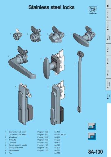 Stainless steel locks 8A 100 - EMKA Beschlagteile
