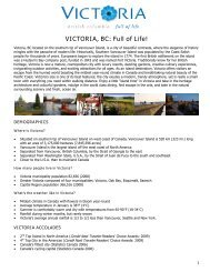 VICTORIA, BC: Full of Life! - Tourism Vancouver Island