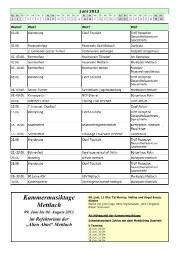 Juni - Saarschleife Touristik GmbH