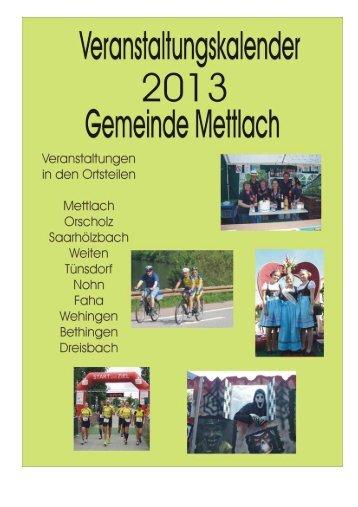 Veranstaltungsübersicht für das komplette Jahr 2013 - Saarschleife ...