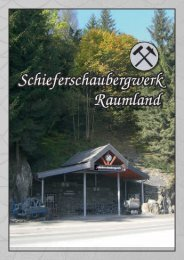 Schieferschaubergwerk Raumland - Bad Berleburg