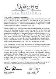 Ferienspielheft 2009 Bad Berleburg - Stadtjugendpflege Bad ...