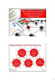 Organisation und Finanzierung - Tourismus NRW