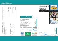 Flyer Symposium Gesundheitsprävention