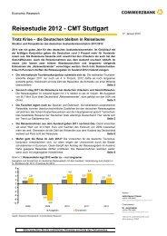 Commerzbank Reisestudie 2012 - Tourismuspartner Niedersachsen
