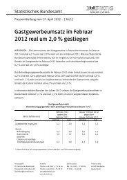 Gastgewerbeumsatz im Februar 2012 real um 2,0 % gestiegen