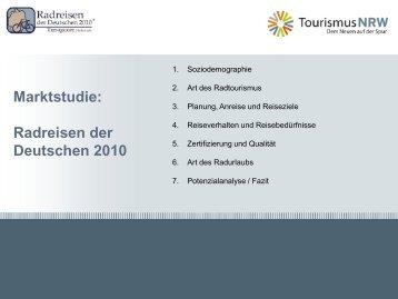 Marktstudie: Radreisen der Deutschen 2010