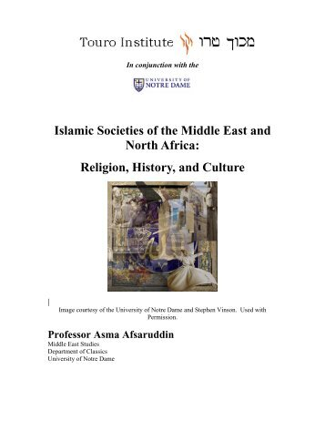 Islamic Societies of the Middle East and North Africa - Touro Institute