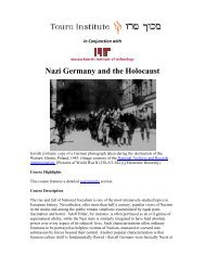 Nazi Germany and the Holocaust - Touro Institute