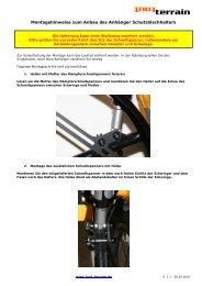 Singletrailer Schutzblech-Montageanleitung - Tout Terrain