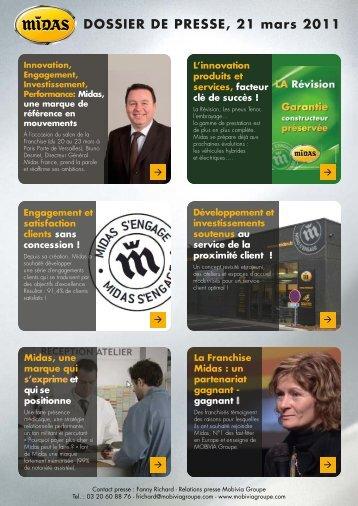 DOSSIER DE PRESSE, 21 mars 2011 - Mobivia Groupe