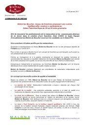 Comuniqué Franchise Expo 2011 - Toute la franchise