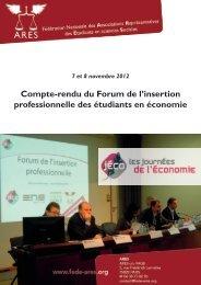 Compte-rendu du Forum de l'insertion professionnelle des étudiants ...