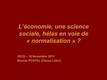 L'économie, une science sociale, hélas en voie de ... - Touteconomie
