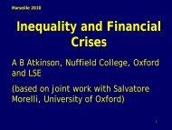 Inequality and banking crises - touteconomie