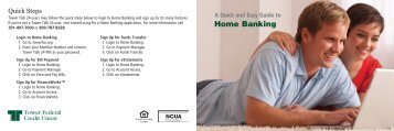 Home Banking - Tower Federal Credit Union