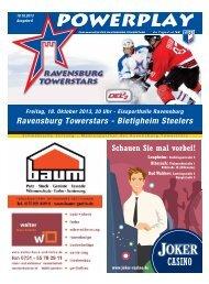 Ravensburg Towerstars - Bietigheim Steelers