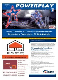 Ravensburg Towerstars - EC Bad Nauheim