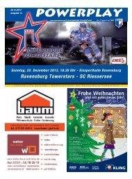20.12.2013 - Heft zum Spiel gegen den SC Riessersee - Towerstars