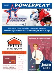 31.10.2012 – Heft zum Spiel gegen Schwenningen - Towerstars