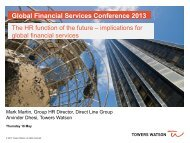 Global Financial Services Conference 2013 - Towers Watson