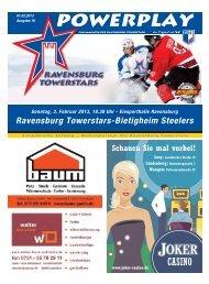 01.02.2013 – Heft zum Spiel gegen Bietigheim - Towerstars