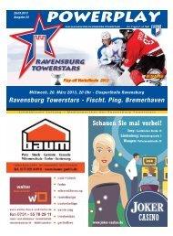 20.03.2013 – Heft zum PO-Spiel 1 gegen Bremerhaven - Towerstars