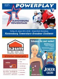 25.01.2013 – Heft zum Spiel gegen Dresden - Towerstars