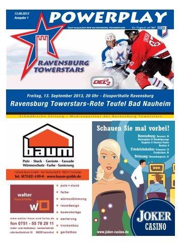 Heft zum Spiel und Saisonauftakt gegen Bad Nauheim - Towerstars