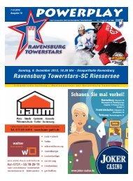 Heft zum Spiel gegen Riessersee - Towerstars