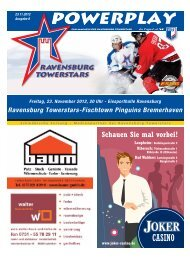 Ravensburg Towerstars-Fischtown Pinguins Bremerhaven