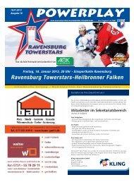 18.01.2013 – Heft zum Spiel gegen Heilbronn - Towerstars