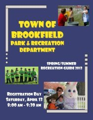 2013 Spring/Summer Rec Guide - Town of Brookfield