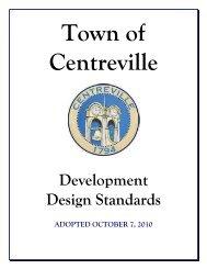 Development Design Standards - Town of Centreville, Maryland